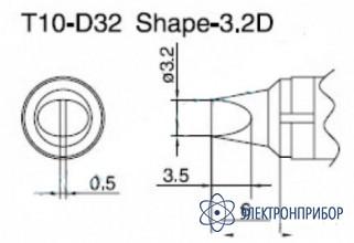 Паяльная сменная композитная головка для станций 938 T10-D32