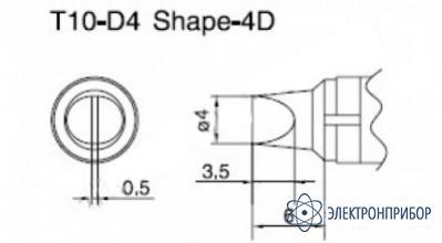 Паяльная сменная композитная головка для станций 938 T10-D4