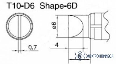Паяльная сменная композитная головка для станций 938 T10-D6