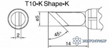 Паяльная сменная композитная головка для станций 938 T10-K