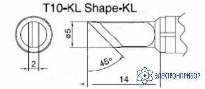 Паяльная сменная композитная головка для станций 938 T10-KL