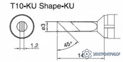 Паяльная сменная композитная головка для станций 938 T10-KU