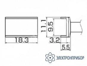 Паяльная сменная композитная головка для станций fx-950/ fx-951/fx-952/fm-203 T12-1003