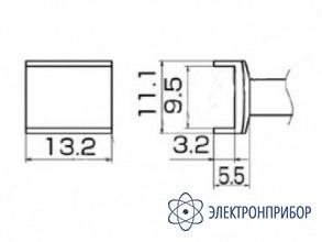 Паяльная сменная композитная головка для станций fx-950/ fx-951/fx-952/fm-203 T12-1005