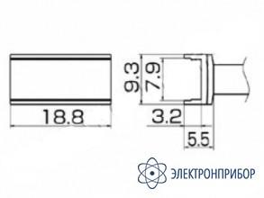 Паяльная сменная композитная головка для станций fx-950/ fx-951/fx-952/fm-203 T12-1007