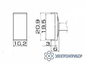 Паяльная сменная композитная головка для станций fx-950/ fx-951/fx-952/fm-203 T12-1008