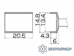 Паяльная сменная композитная головка для станций fx-950/ fx-951/fx-952/fm-203 T12-1009