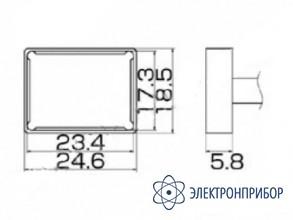 Паяльная сменная композитная головка для станций fx-950/ fx-951/fx-952/fm-203 T12-1205