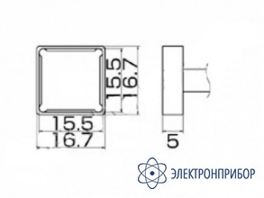 Паяльная сменная композитная головка для станций fx-950/ fx-951/fx-952/fm-203 T12-1207