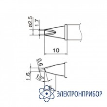 Паяльная сменная композитная головка для станций hakko fx-950/fx-951/fx-952/fm-203 T12-1610