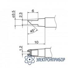 Паяльная сменная композитная головка для станций hakko fx-950/fx-951/fx-952/fm-203 T12-1612