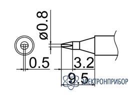 Паяльная сменная композитная головка для станций fx-950/ fx-951/fx-952/fm-203 T12-D08