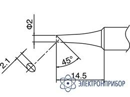 Паяльная сменная головка для паяльника hakko fx-8801esd T18-C2