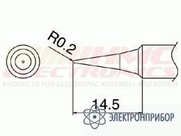 Паяльная сменная головка для паяльника hakko fx-8801esd T18-I