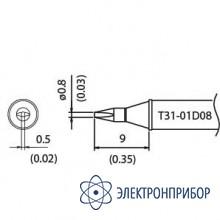 Наконечник для станции fx-100 450°с T31-01D08