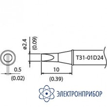 Наконечник для станции fx-100 450°с T31-01D24