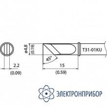 Наконечник для станции fx-100 450°с T31-01KU