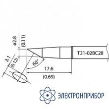 Наконечник для станции fx-100 400°с T31-02BC28