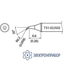 Наконечник для станции fx-100 400°с T31-02JS02