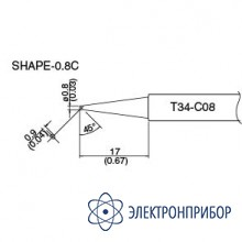 Сменная головка для hakko dash fx-650 T34-C08