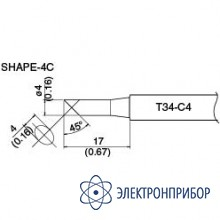 Сменная головка для hakko dash fx-650 T34-C4