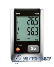4х-канальный логгер данных температуры и влажности с разъемами для внешних зондов (ntc/емкостный сенсор влажности) testo 176 H1