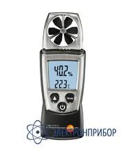 Анемометр с крыльчаткой, со встроенным ntc сенсором измерения температуры воздуха testo 410-1
