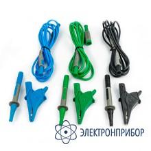 Комплект из 3-х кабелей, 3 зажимов «крокодил» и 1 наконечника тестового провода (для акип-8401 и акип-8402) UNIVERSALKIT