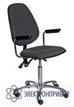 Антистатический тканевый лабраторный стул с регулировкой угла наклона спинки и сидения, с газлифтом kj/140 VKG C-200/KJ140 ESD