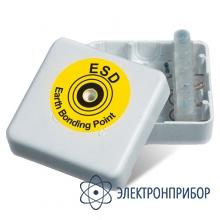 Колодка для заземления белая закрытая с резистором 1 moм VKG А-9400