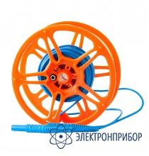 Для mpi-520/525, mru-xxx, mrp-200 Провод измерительный 15 м на катушке с разъёмами банан голубой