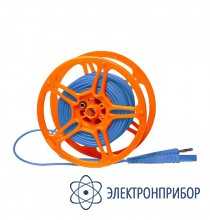 """Для mpi-508/511, mru-10x, mrp-200 Провод измерительный 25 м на катушке с разъёмами """"банан"""" голубой"""