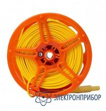 Для mru-xxx, mpi-520/525 Провод измерительный 50 м на катушке с разъёмами банан желтый