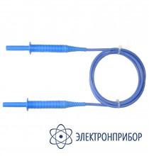 """Для mic-5000 Провод измерительный 1,8 м с разъемами """"банан"""" голубой 5 кB"""