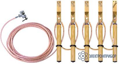Заземление переносное линейное (фазный зажим комбинированного типа) ЗПЛ-1-5/5-35
