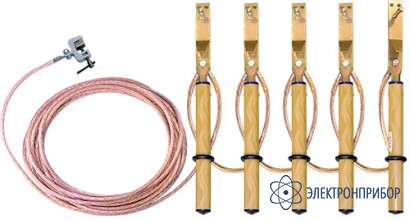 Заземление переносное линейное (фазный зажим комбинированного типа) ЗПЛ-1-5/5-50