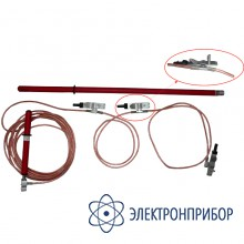 Заземление переносное для воздушных линий 3-х фазное до 10кв с одной штангой ЗПЛ-10Н (сеч. 35мм2)