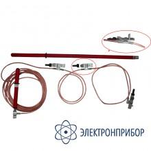 Заземление переносное для воздушных линий 3-х фазное до 10кв с одной штангой ЗПЛ-10Н (сеч. 25мм2)