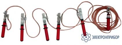 Заземление переносное для воздушных линий с пятью фазными зажимами до 1кв ЗПЛ-1Н