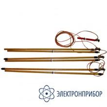 Заземление переносное для воздушных линий 3-х фазное до 220кв с тремя штангами ЗПЛ-220Н-3 (сеч. 25мм2)