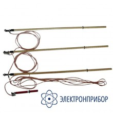 Заземление переносное для воздушных линий 3-х фазное до 35кв с тремя штангами ЗПЛ-35Н-3 (сеч. 25мм2)