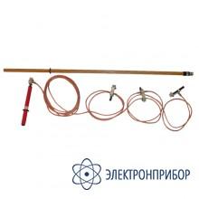 Заземление переносное для распределительных устройств 3-х фазное до 35кв с одной штангой ЗПП-35Н (сеч. 25мм2)