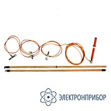 Заземление переносное для распределительных устройств 3-х фазное до 330кв с одной штангой ЗПП-330Н (сеч. 25мм2)