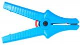 Зажим «Крокодил» изолированный голубой К07 5,5 кВ