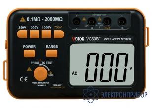 Измеритель сопротивления изоляции Victor VC60B+