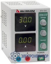 Источник постоянного напряжения 0-30 в и тока 0-1 а АТН-1231