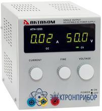 Источник постоянного напряжения 0-50 в и тока 0-3 а АТН-1253