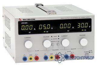 Трехканальный источник питания постоянного напряжения 0-30 в и тока 0-3 а (третий канал не регулируемый 5 в/3 а) АТН-3231