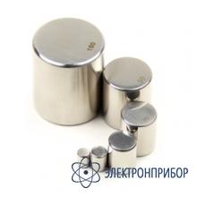 Гиря цилиндрической формы без головки, класс точности e2, номинальная масса 2 кг, пластиковый футляр E2-2кг-X0