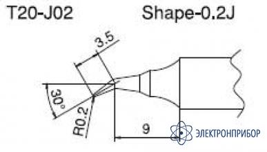 Паяльная сменная композитная головка для станций fx-838 T20-J02